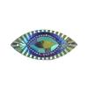 Resin Sew-on Piikki Stones 10pcs 18x40mm Navette Purple Aurora Borealis